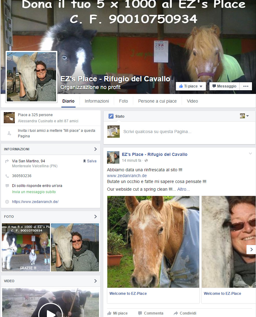 Nuova pagina facebook!